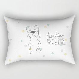 healing wounds Rectangular Pillow