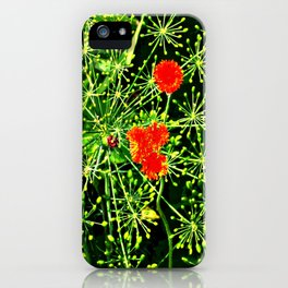 Neon floral burst of energy iPhone Case