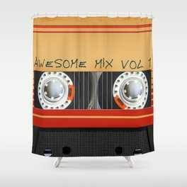 Awesome Mix Cassette Vol.1 Shower Curtain