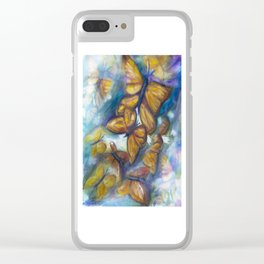 Shaded Wings Clear iPhone Case