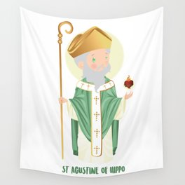 Sait Agustine of Hippo Wall Tapestry