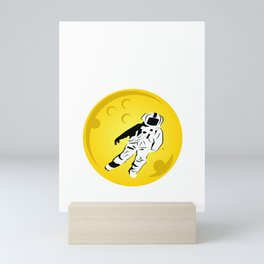 """Been fan of the moon ever since? Well,""""The Moon Is Not The Limit"""" is the right tee for you! Mini Art Print"""