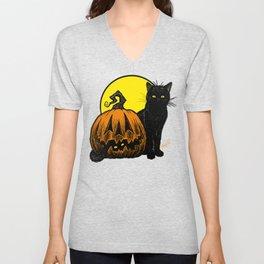 Still Life with Feline and Gourd Unisex V-Neck