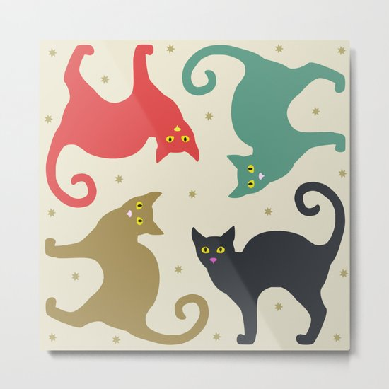 Cats and Cream Metal Print