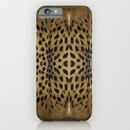 Leopard Pattern Leather Print iPhone Case