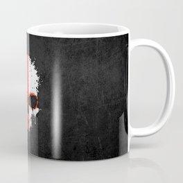 Flag of England on a Chaotic Splatter Skull Coffee Mug