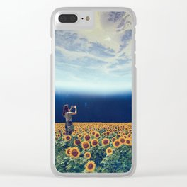 Picture of the world Clear iPhone Case