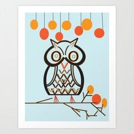 The Owl In Myriad Pro Art Print