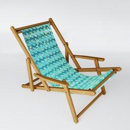 Mermaid Waves and Sea Foam, Sun Light over the Ocean Sling Chair