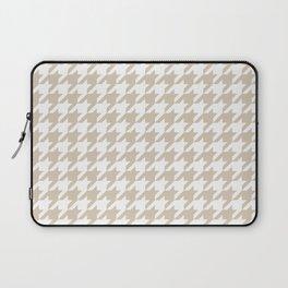 Houndstooth: Beige & White Checkered Design Laptop Sleeve