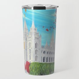 Salt Lake City, Utah LDS Temple in Autumn Travel Mug