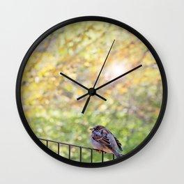 Bird, Central Park, New York City Wall Clock