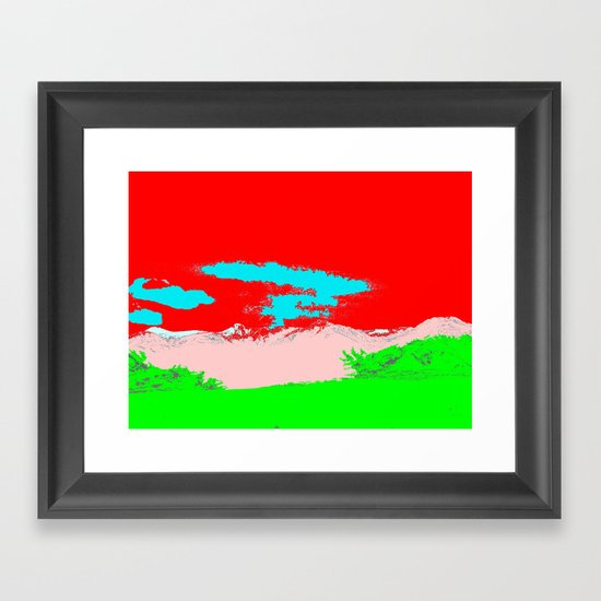Ice Cream Mountain Framed Art Print