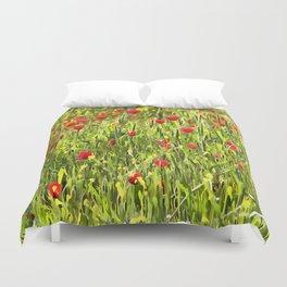 Flanders Poppies Duvet Cover