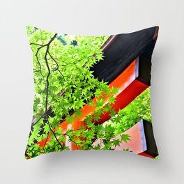 Leaf to Leave to Gate Throw Pillow