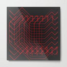 //RED Metal Print