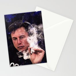 Elon Musk smoking weed Stationery Cards