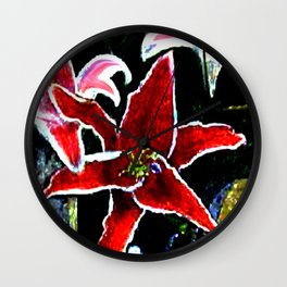 Tiger Lily jGibney The MUSEUM Society6 Gifts Wall Clock