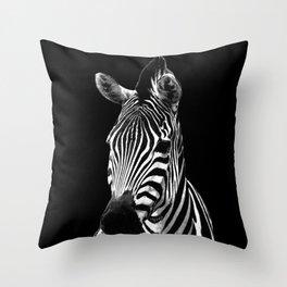 Zebra Black Throw Pillow