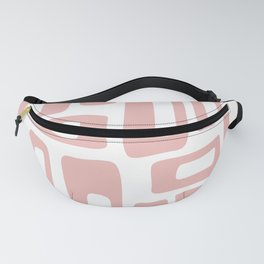 Retro Mid Century Modern Abstract Pattern 336 Dusty Rose Fanny Pack
