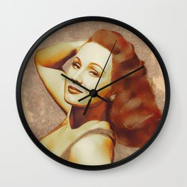 Virginia Mayo, Hollywood Legend Wall Clock