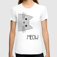 meow T-shirts featuring Meow by Hugh & West