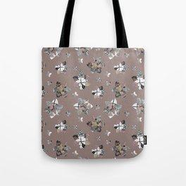 Geometric Quilt Tote Bag