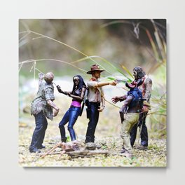 hiking with the walking dead Metal Print