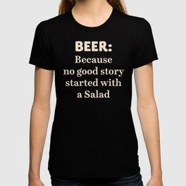 Beer illustration quote, vintage Pub sign, Restaurant, fine art, mancave, food, drink, private club T-shirt
