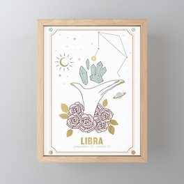 Libra Zodiac Series Framed Mini Art Print