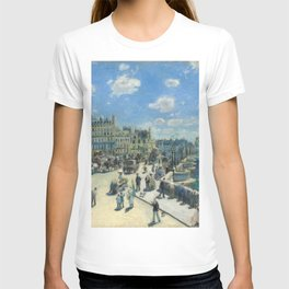 Pont Neuf Paris Painting by Auguste Renoir T-shirt
