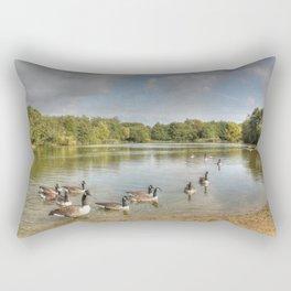 Geese on the Lake HDR Rectangular Pillow