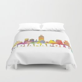 Indianapolis Indiana  Skyline MCLR 2 Duvet Cover