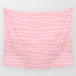 Zebra Print - Pink Marshmallow Wall Tapestry