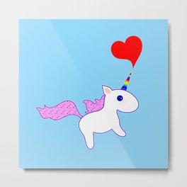 Heart Horn Unicorn Metal Print