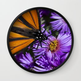 Monarch Butterfly 3 Wall Clock