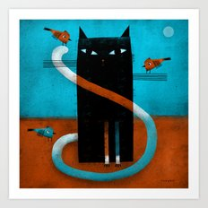 OFFSET WHISKERS Art Print