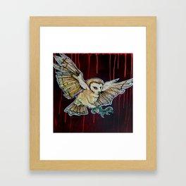L'il Lard Butt - the Yellow Snowy Owl Framed Art Print
