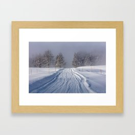 Yellowstone National Park - Road to Mud Volcano Framed Art Print