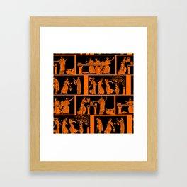 toga party squares Framed Art Print