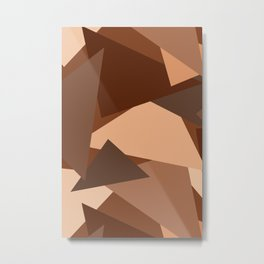 Chocolate Caramels Triangles Metal Print