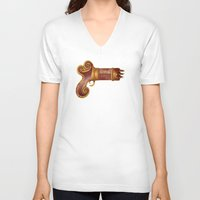 arsenal V-neck T-shirts featuring The Leecher by Katie Lawter