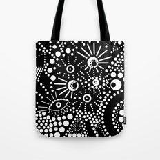 Abstract pattern polka dot black white . Tote Bag