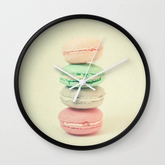 Four Macarons Wall Clock