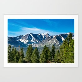 Mammoth Lakes Area, California Art Print