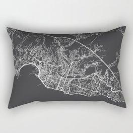 Genoa Map, Italy - Gray Rectangular Pillow