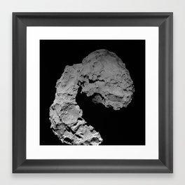 Rosetta's comet descent Framed Art Print