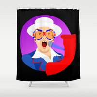 hercules Shower Curtains featuring Elton by tuditees