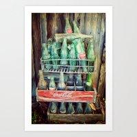 Coke Bottles Art Print