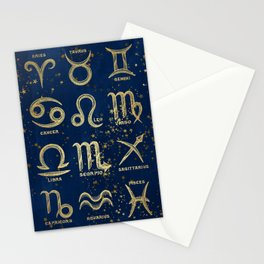 The 12 Zodiac Signs Stationery Cards